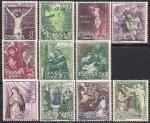 Испания 1962 год. Религиозная живопись. 11 марок