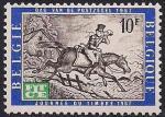Бельгия 1967 год. История почты. 1 марка