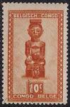 Конго 1947 год. Статуэтка. Искусство народа Бакуба. 1 марка