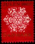 Дания 1966 год. Непочтовая рождественская марка