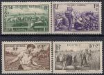 Франция 1940 год. Всенародная помощь в производстве сельхозпродукции. 4 марки