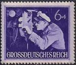 Германия (Рейх) 1944 год. День Вермахта. Командир подводной лодки за перископом. 1 марка из серии (6+4)