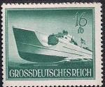 Германия (Рейх) 1944 год. День Вермахта. Быстроходный катер (16+10). 1 марка из серии