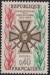 Франция 1965 год. Крест - военный орден. 1 марка