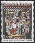 Франция 1973 г., Искусство, Фреска, церковное причастие, 1 марка