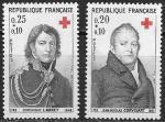 Франция 1964 год, Красный крест. Личные врачи Наполеона, 2 марки