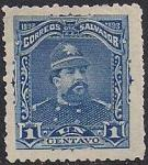 Сальвадор 1893 год. Президент Калос Эсета (ном. 1centavo). 1 марка из серии