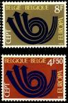 Бельгия 1973 год. Европа. 2 марки