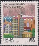 """Италия 1997 год. 50 лет """"Плану Маршалла"""". 1 марка"""