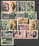 Набор спичечных этикеток. Циолковский. 1964 год. 18 штук