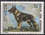 Монако 1973 год. Выставка собак в Монте Карло. Овчарка. 1 марка