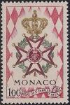 Монако 1958 год. 100 лет ордену Святого Карла. 1 марка
