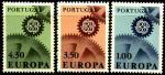 Португалия 1967 год. Европа. 3 марки