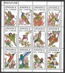 Ангола 1996 год. Птицы, малый лист