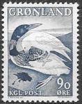 Гренландия 1967 год. Утка. Сюжеты сказок Гренландии, 1 марка