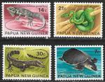 Папуа Новая Гвинея 1972 год. Местные рептилии, 4 марки