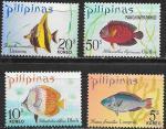 Филиппины 1972 год. Экзотические рыбки, 4 марки