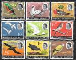 Острова Питкэрн 1964 год. Стандарт. Птицы. Неполная серия 9 марок