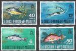 Сент-Кристофер Невис Ангилья 1969 год. Местные рыбы, 4 марки