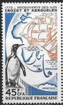 Франция 1972 год. Открытие островов. Пингвин, 1 марка