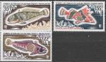 Французские Антарктические территории 1971 год. Рыбы, 3 марки