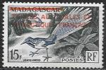 Французские Антарктические территории 1955 год. Стандарт с надпечаткой. Птица, 1 марка с наклейкой