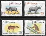 Филиппины 1969 год. Животные для охоты, 4 марки