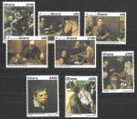 Гана 1992 год. Испанская живопись, Веласкес, 8 марок