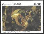 Гана 1992 год. Испанская живопись, Веласкес, блок