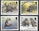 Южная Георгия 2002 год. Морские котики, 4 марки