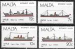 Мальта 1986 год. Мальтийские корабли, 4 марки