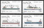 Мальта 1987 год. Мальтийские корабли, 4 марки