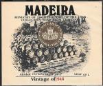Винная этикетка. Madeira, Массандра