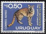 Уругвай 1976 год. Дикая кошка, 1 марка