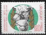 Уругвай 1971 год. Корова и овца, 1 марка