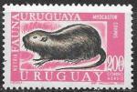 Уругвай 1971 год. Нутрия, 1 марка