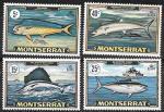 Монсеррат 1969 год. Морская рыбалка, 4 марки