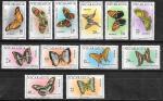 Никарагуа 1967 год. Бабочки, 12 марок