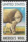 США 1971 год. Овцы. Шерстяная промышленность, 1 марка