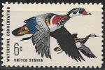 США 1968 год. Утки, 1 марка
