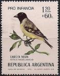 Аргентина 1974 год. Чижик (ном. 1.2+0.6). 1 марка из серии