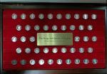 44 серебряных жетона короли и королевы Англии 1977 год