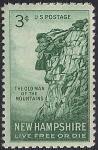 """США 1955 год. 150 лет обнаружению скального образования """"старик-гора"""". 1 марка"""