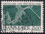 Дания 1993 год. 500 лет установлению дипломатических отношений между Данией и Россией. 1 гашеная марка