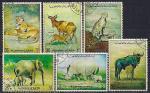 Аджман 1972 год. Африканская фауна. 6 гашеных марок