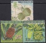 Вьетнам 1959 год. Фрукты. 3 гашёные марки