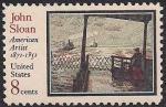 США 1971 год. 100 лет со дня рождения американского артиста Д. Слоуна. 1 марка