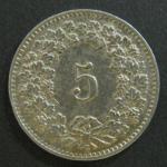 Монета 5 раппов 1906 год Швейцария