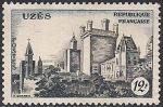 Франция 1957 год. Город Юзес. 1 марка