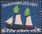 Дания 1957 год. Благотворительная рождественская марка